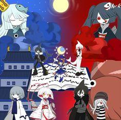 Wadanohara and the Great Blue Sea Fanart Wadanohara, Samekichi, Sal, Fukami, Tatsumiya, Old, Sheep, Uomi, and Mikotsu