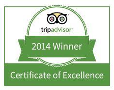 The Erinvale Estate Hotel & Spa Awarded 2014 TripAdvisor Certificate of Excellence Quepos, Cuenca Ecuador, Costa Rica, San Salvador, Tarragona Spain, Champs Sur Marne, Riviera Nayarit, Riviera Maya, Excellence Award