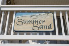 SUMMER SAND, #123 - Outer Banks Vacation Rental Home l Beach Cottage Sign l www.CarolinaDesigns.com Beach House Names, Beach House Signs, Beach Signs, Home Signs, Cottage Names, Cottage Signs, Outer Banks Vacation Rentals, Beach Cottages, Private Pool