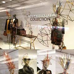 WEBSTA @ rockingpaperscissors - A selection of Metallic Paper headdresses, face masks and background design, I created for A/W2016 Fenwick, Brent Cross London #windowdisplay #visualmerchandising #metallic #paper#papersculpture #handmade #autumnwinter2016 #headdress #facemask#fenwickbrentcross#fenwick
