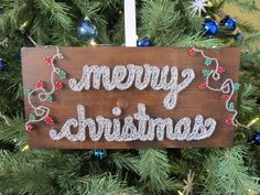 Made to Order String Art Sign Merry Christmas by BlossomingBurlap