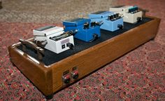 Click this image to show the full-size version. Guitar Pedal Board, Guitar Diy, Fender Custom Shop, Guitar Building, Guitar Pedals, Van Life, Pedalboard Ideas, Really Cool Stuff, Moda Masculina