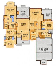 1st fl 3399 sq ft #658594 - IDG2614 : House Plans, Floor Plans, Home Plans, Plan It at…