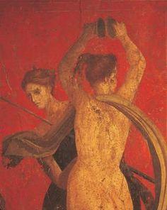 *POMPEII, ITALY ~ Campania Region – Pompeii. 1st century b. C. – Villa of the Mysteries, fresco detail