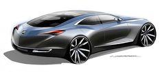Buick Avenir Concept Design Sketch