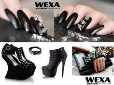 sada na gelove nechty Rock Nails, Nail Art, Heels, Fashion, Heel, Moda, Fashion Styles, Nail Arts, High Heel