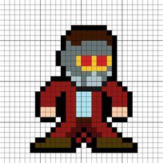 Star-Lord GOTG Vol. 2 Perler Bead Pattern