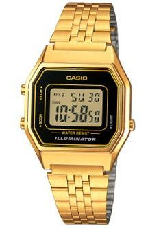 CASIO Mod. LA-680WG-1 RETRO ILLUMINATOR Digit Autocalendar wr 30 ***ORIGINAL BOX***