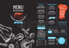 Ristorante bar menu, modello di progettazione. Volantino alimentare.