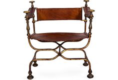 Savonarola Chair II on OneKingsLane.com Affordable Furniture, Stools, Design Projects, My House, Weird, Chairs, Traditional, Stylish, Metal