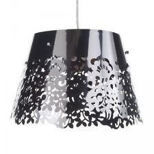 Litecraft Freido Polished Chrome Floral Cut Out Lamp Shade Pendant Light Fitting