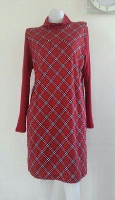Vintage BURBERRY GOLF Dress / Red plaid / Nova check / Size L. - pinned by pin4etsy.com