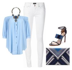 """""""Off my shoulder!"""" by lollahs ❤ liked on Polyvore featuring Zara, The Mode Collective and Anton Heunis"""