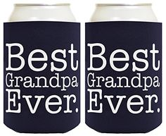 Funny Beer Coolie Best Grandpa Ever 2 Pack Can Coolies Navy ** This is an Amazon Affiliate link. Check this awesome product by going to the link at the image.