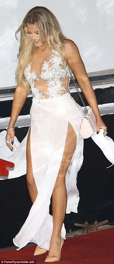 Khloe Kardashian rocks revealing white dress at James Harden's party #dailymail