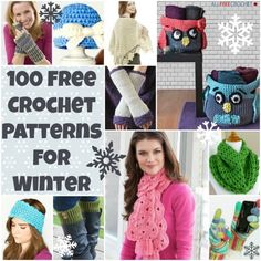 100 Free Crochet Patterns for Winter: Free Crochet Hat Patterns, Scarves, Blankets and More!