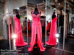 Fuchsia High Low Drop Waist Prom Dress
