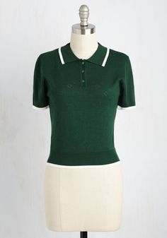 Strike a Polo Match Sweater. Riding up to your friend in this pine green…
