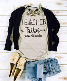 Customized Teacher Tribe Shirts | Jane