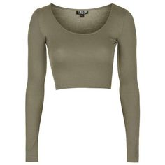 TopShop Raw Edge Scoop Crop ($14) ❤ liked on Polyvore featuring tops, white long sleeve top, scoop top, topshop, jersey crop top and scoop crop top