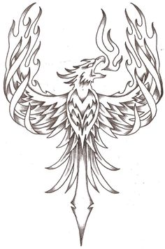 Phoenix (possibly on right forearm)