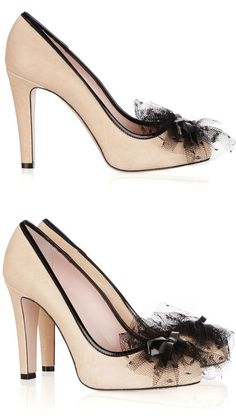 Red Valentino Tulle Bow Pumps <3