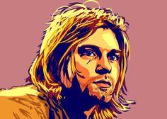 Kurt Cobain by swajner Kurt Cobain Art, Cool C, Classic Rock, Art Google, Anime Art, Digital Art, Deviantart, Fictional Characters, Link