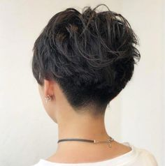 Undercut Wavy Pixie for Thick Hair hair wavy 60 Classy Short Haircuts and Hairstyles for Thick Hair Thick Hair Pixie, Short Hairstyles For Thick Hair, Short Pixie Haircuts, Short Hair Cuts For Women, Curly Hair Styles, Short Wavy Pixie, Pixie Haircut Styles, Style Short Hair Pixie, Pixies For Thick Hair