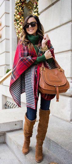 #winter #fashion / tartan + houndstooth