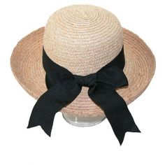 1eb87794a15 CTM Women s Raffia Straw Braided Wide Brim Hat with Black Bow