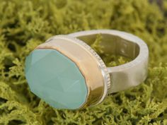 Jamie Joseph Aqua Chalcedony Ring Jamie Joseph Jewelry