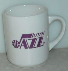 Utah Jazz Kelloggs Coffee Cup Mug White Purple Red NBA  This Item is for sale at LB General Store http://stores.ebay.com/LB-General-Store
