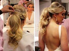 Rabo de cavalo estilizado para noivas - Penteado para casamento
