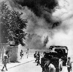 A wing of the King David Hotel being blown up by the Irgun organization - July 22, 1946.