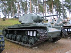 The Kliment Voroshilov (KV) tanks were a series of Soviet heavy tanks, named after the Soviet defense commissar and politician Kliment Voroshilov. The KV series were known for their extremely heavy armour protection during the early war, especially during the first year of the invasion of the Soviet Union in World War II...