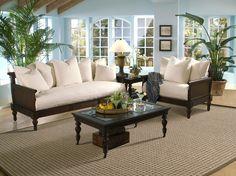 british colonial living room | Klaussner British Isles Sofa Set DB77701-Sofa-Set | Homelement.com white with dark wood