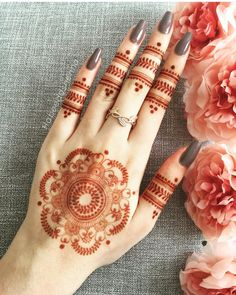 "Henna Girl (𝒻𝓊𝓁𝓁 𝑜𝒻 𝓁𝑜𝓋𝑒 🕊) on Instagram: ""1-6 Which one you wanna try 😍 . Follow us @crushwithhenna  for more inspirational henna ideas . .  Tag and Share 📌 Comment below what you…"""