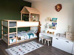 Ikea Bed Hack, Ikea Kura Bed, Ikea Boys Bedroom, Baby Bedroom, Kids Room Design, Kid Beds, Boy Room, Nursery, Profile