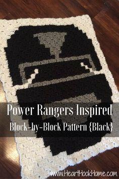 Power Rangers Inspired Bock-by-Block Crochet Pattern (Black)