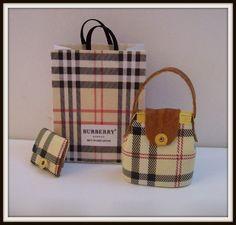 Bag dollhouse miniature 1:12 scale. (3 Pcs)