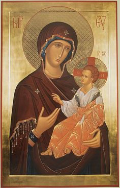 Panagia Mother of God with the Baby Christ Religious Icons, Religious Art, Madonna, Queen Of Heaven, Russian Icons, Russian Orthodox, Byzantine Icons, Biblical Art, Inspirational Artwork