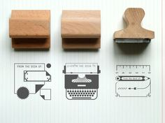 'From the desk of' rubber stamps • Made by Present & Correct, from Etsy • $12.50