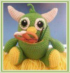 Pistazien das hungrige Monster von WuMeDesign auf Etsy, $4.50, crochet pattern,  Häkelanleitung,  gehäkelt,  häkeln