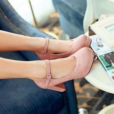 MissSaSa Damen Chunky heel Plateau Pumps mit Knöchelriemchen bequem high-heels Schnalle Kleidschuhe: Amazon.de: Schuhe & Handtaschen