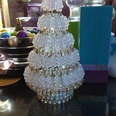 Dollar Tree Christmas, Gold Christmas Tree, Christmas Crafts, Christmas Ornaments, Etsy Christmas, Xmas, Christmas Chandelier, Christmas Staircase, Diy Chandelier