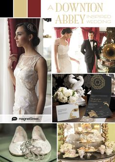 Downton Abbey wedding style! Elegant British wedding inspiration