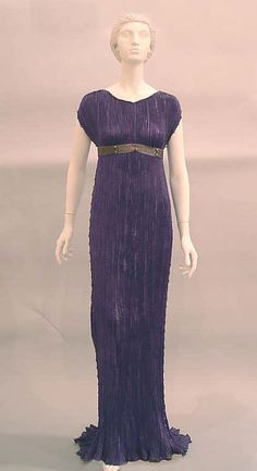 """Mariano Fortuny, the Spanish artist-designer who worked in Venice, created pleated gowns that have come to be surrounded by myth. His simplest sheath style, derived from the chiton, was called the """"Delphos"""