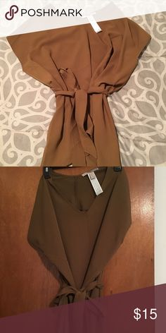 Oversized Balmin style blouse Beautiful olive green blouse with waist belt, new without tags. Really oversized can fit a xs-large Tops Blouses