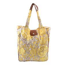 Waterproof tote bag with medallion motif. Includes interior pockets and cell phone slot.  Product: ToteConstruction Mater...