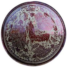 Great 17th Century, Hispano Moresque Copper Luster Charger | From a unique collection of antique and modern dinner plates at https://www.1stdibs.com/furniture/dining-entertaining/dinner-plates/
